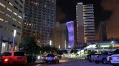 Downtown Miami city scene Stock Footage