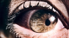 Eye sick evil Stock Footage