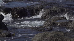 Slow Motion Waves in Juan de Fuca Provincial Park Stock Footage