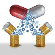 Medicine Interaction - stock illustration