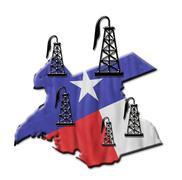 Texas Oil. Stock Illustration
