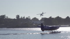 Floatplane Lands in Victoria, Canada Stock Footage