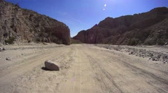 Anza Borrego Desert California - Fish Wash Trail - Canyon WALL Stock Footage