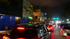 New Years Ocean Drive Stock Footage