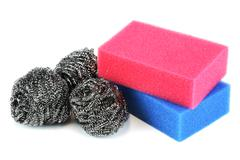 Scouring sponge and pad Stock Photos