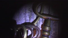 BIG BRASS SKELETON, long zoom out Stock Footage