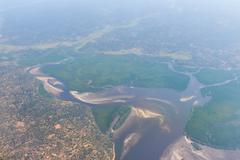 Inhambane Province Aerial View - Mozambique - stock photo