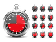 Stopwatch - stock illustration