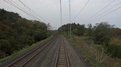 Ride on Aoimori Line Train in Japan - stock footage