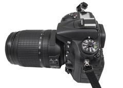 digital single lens reflex camera - stock photo