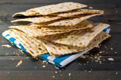 Matzah, matza, matzo, unleavened bread - stock photo