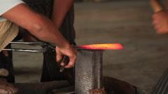 Hammer Forging Inle Lake Stock Footage