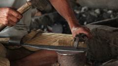 Sharpening Tools Inle Lake Stock Footage