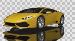 Supercar Assembling-disassembling Looped Animation with Alpha channel Stock Footage