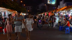 People choose souveners at the Ben Thanh market in Saigon city Stock Footage
