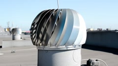 Roof ventilation turbine Stock Footage