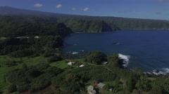 Maui Landscape drone shore line coast - stock footage