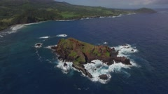 Little island and Maui Landscape in the back ground Stock Footage