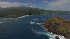 Birds above island Maui Landscape drone Stock Footage