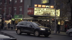 Famous Waverly movie theater now known as IFC Center 6th Avenue in West Village Stock Footage