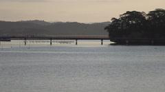 Bridge to Island at Matsushima in Japan Stock Footage