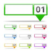 Map Markers with Numbers Stock Illustration