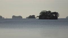 Islands at Matsushima in Japan Stock Footage