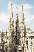 Milan cathedral (Duomo di Milano) in Italy - stock photo