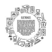 Banner electronics  design illustration. Stock Illustration