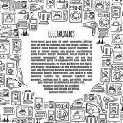 Banner electronics  design illustration. - stock illustration