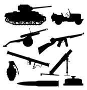 Weapons Of War - stock illustration