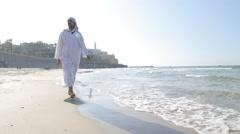 Tel-Aviv Jaffa Sea Shore Stock Footage