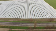 Greenhouses aerial. Farming in Germany Stock Footage