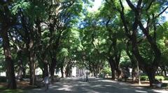 Argentina Buenos Aires Plaza San Martin Hyperlapse Stock Footage