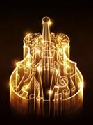 Violin with Sparks - stock illustration