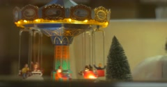 Decorative Toy Carousel With Men Toys is Moving Around Exclusive Toys New Year Stock Footage