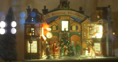 Toy Ladies And Gentlemen Vintage Dolls Are Moving Dancing Decorative Toy House - stock footage