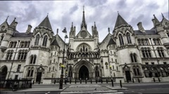 Timelapse of the Royal Court of Justice in London Stock Footage