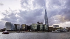 Timelapse view of South bank and the Shard Stock Footage