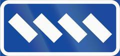 Road sign used in Sweden - Parking configuration - stock illustration