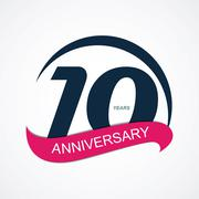 Stock Illustration of Template Logo 10 Anniversary Vector Illustration