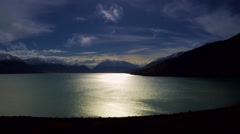 Lake Ohau New Zealand Aerial Stock Footage