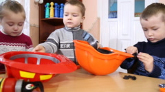children playing in the profession - stock footage