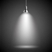 Stock Illustration of Bright with Lighting Spotlights Lamp