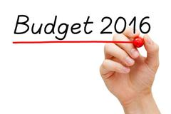 Budget Year 2016 - stock photo