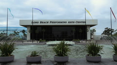 Long Beach Performimg Arts Center Stock Footage