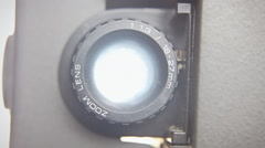 Super 8 projector lens front - stock footage