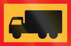 Road sign used in Sweden - Symbol plate for specified vehicle or road user ca - stock illustration