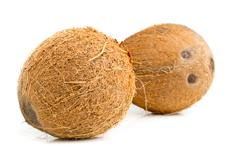Stock Photo of Whole coconuts