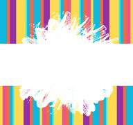 Stock Illustration of Grunge paint splash and strokes rainbow color banner